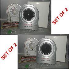 2 X Falsa De Seguridad Ip camera-flashing Luz en dome-wall Tornillos Y sticker-cctv