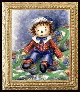 ARTIST PAINTING Dollhouse Miniature Picture MADE IN AMERICA FAST DELIVERY