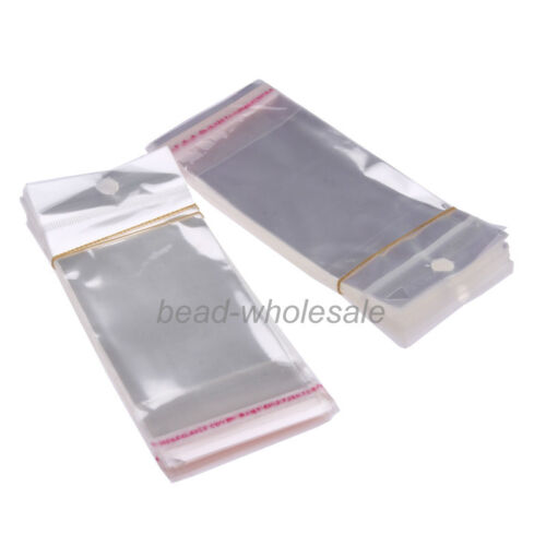 100 Pcs Clear Plastic Bag Packing Jewelry Favor Bags 6 Sizes To Pick