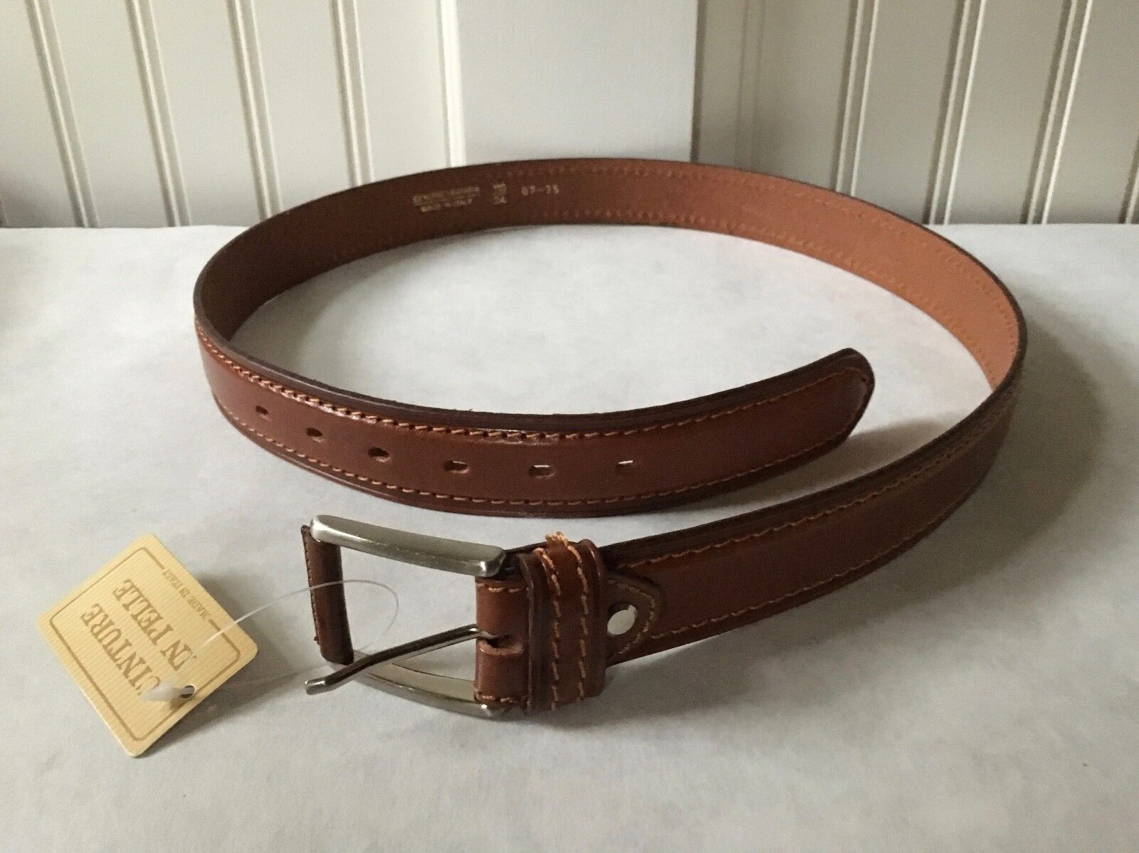 Genuine Italian Leather Brown Belt Purchased in Italy, Size 34