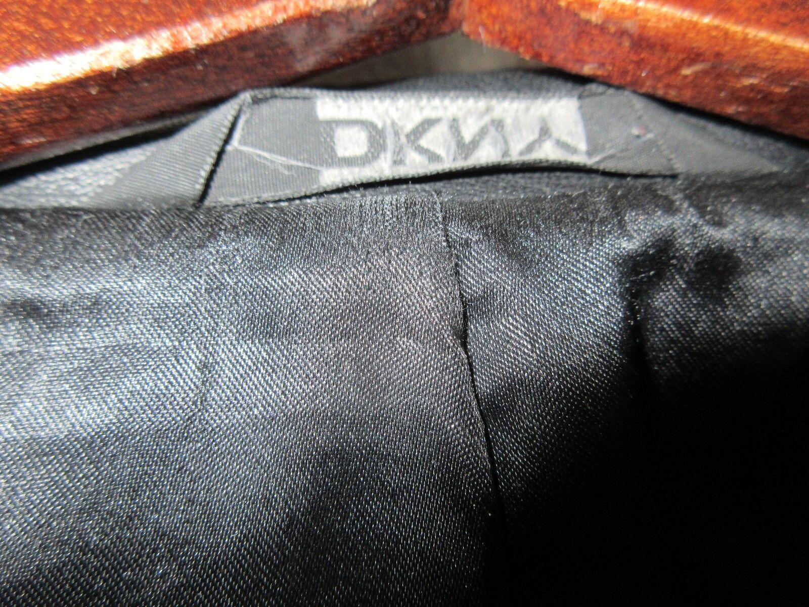 DKNY , Men's Black Leather Jacket , XL