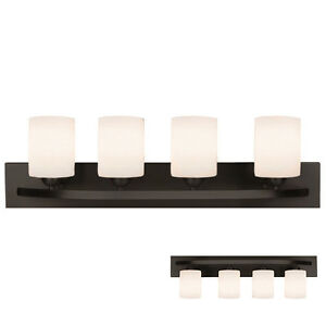 rubbed bronze 4 light bath vanity light bar fixture 21175