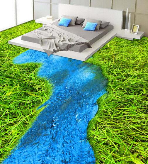 3D Fluss Grasland 409 Fototapeten Wandbild Fototapete Tapete Familie DE Lemon