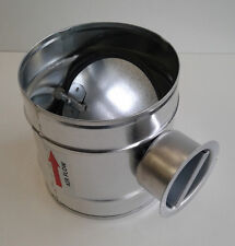 Absperrklappe dichtschliessend Lüftung DAT NW 160 mm Wickelfalzrohr