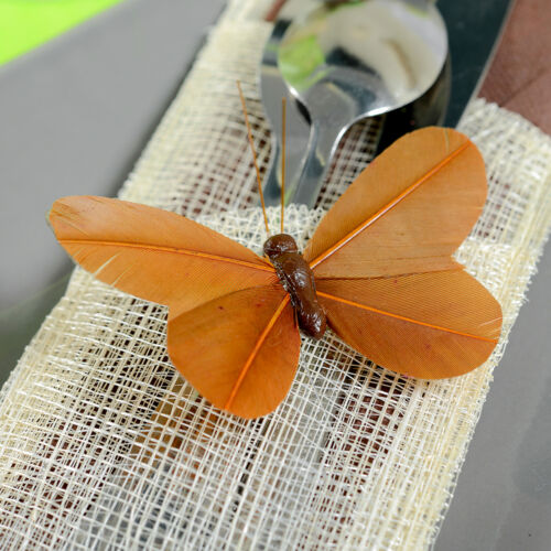"Schmetterlinge /""Colour/"" 8,5 cm 6 Stk rot Dekoschmetterlinge Gastgeschenk"