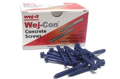 1//4 x 6 Wej-It Flat Head Wej-Con Tapcon Concrete Screw w// Bit 100//BX
