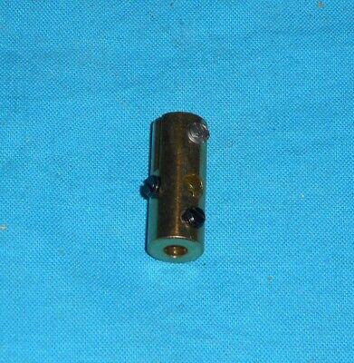 No63  NEUF meccano laiton repro 1 accouplement pour tringles