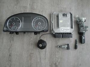 VW Caddy Sa 2,0 Tdi Engine Control Unit Key Tacho Closing Rate Immobiliser