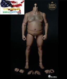 Worldbox-1-6-Langlebig-Figur-Plump-Body-at018-fuer-Hot-Toys-UFC-WWE-USA-lagernd