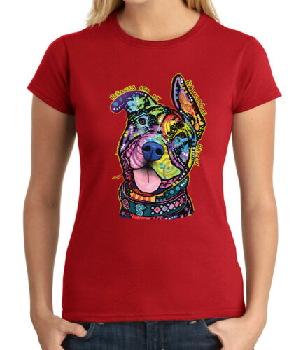 Rescue Dog JUNIOR/'S T-shirt Cool Colorful Puppy GIRL/'S Tee 1564C