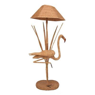 Mario Lopez Torres Flamingo Wicker Floor Lamp with Bronze Accent
