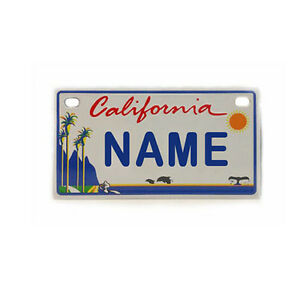 Personalized Names California Mini Bicycle License Plate Souvenir Gift