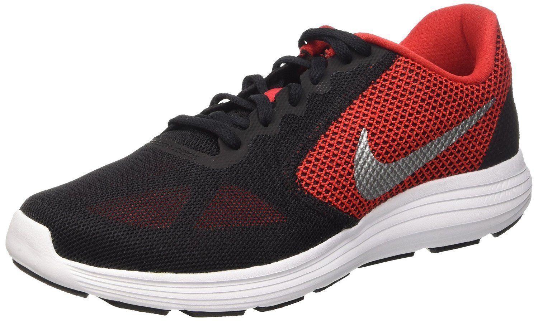 on sale 6b77e 42f1a Men s Nike Nike Nike Revolution 3 Running Shoes University Red   Silver Sz  12 819300 600