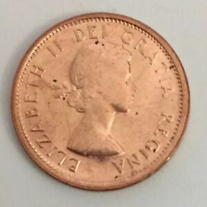1961  Canada  Canadian Small  Cents  one cent  Penny Coin  BU Free   Shipping