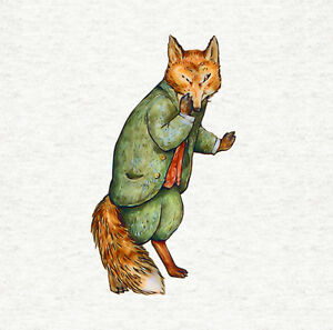 Peter-Rabbit-039-s-Mr-Tod-The-Fox-Fabric-Craft-Panel-Quilting-Panel-8x8-inch-039