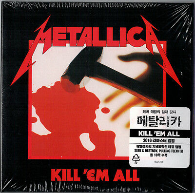Metallica - Kill 'Em All (Korea Edition) CD '2016 REMASTERED' NEW!!