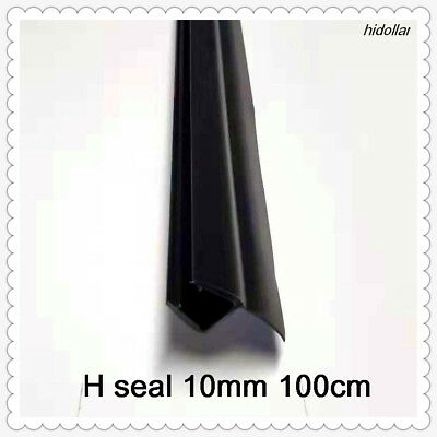 F SHAPE PVC PLASTIC SHOWERSCREEN SHOWER SCREEN DOOR WATER SEAL STRIP 6mm 100cm