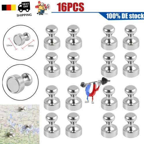 16x Magnete Pinnwand Starke Neodym Kegelmagnete Magnettafel hohe Haftkraft 16mm