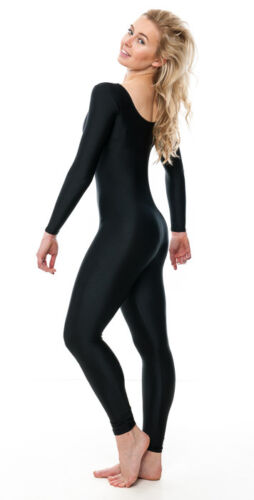 All Colours Long Sleeve Footless Catsuit Fancy Dress All Sizes KDC017 By Katz