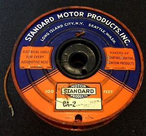 Vintage 1930s 40s Standard Motor Products Cloth Covered Auto Wire