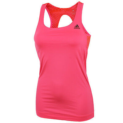 adidas Damen Gym Style Edge Tank Top Weiß