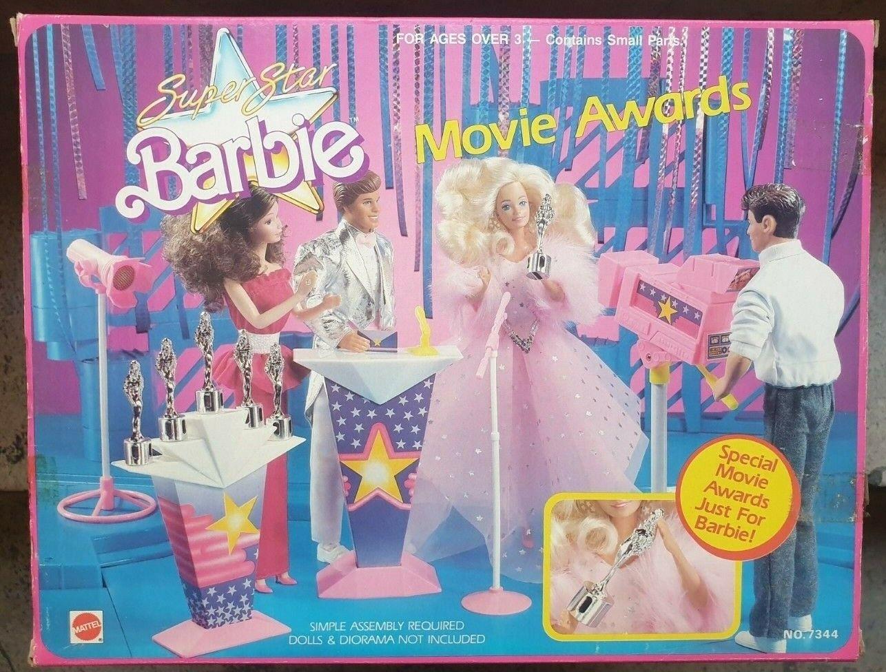 Barbie Barbie Barbie Mattel  Super Star Movie Awards Playset Vintage 88' 90b99c
