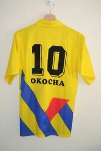 VINTAGE-YELLOW-PUMA-SHORT-SLEEVE-FOOTBALL-SHIRT-UK-SMALL-OKOCHA-10