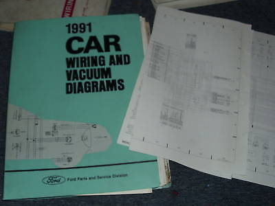 1991 MERCURY CAPRI WIRING ELECTRICAL DIAGRAMS SCHEMATICS ...