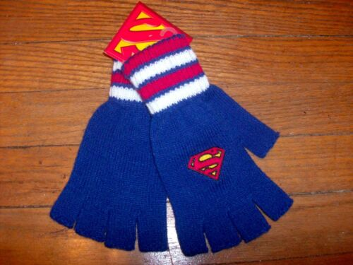 Fingerless Gloves Superman Officially Licensed ONE SIZE FITS MOST TEENS ADULTS