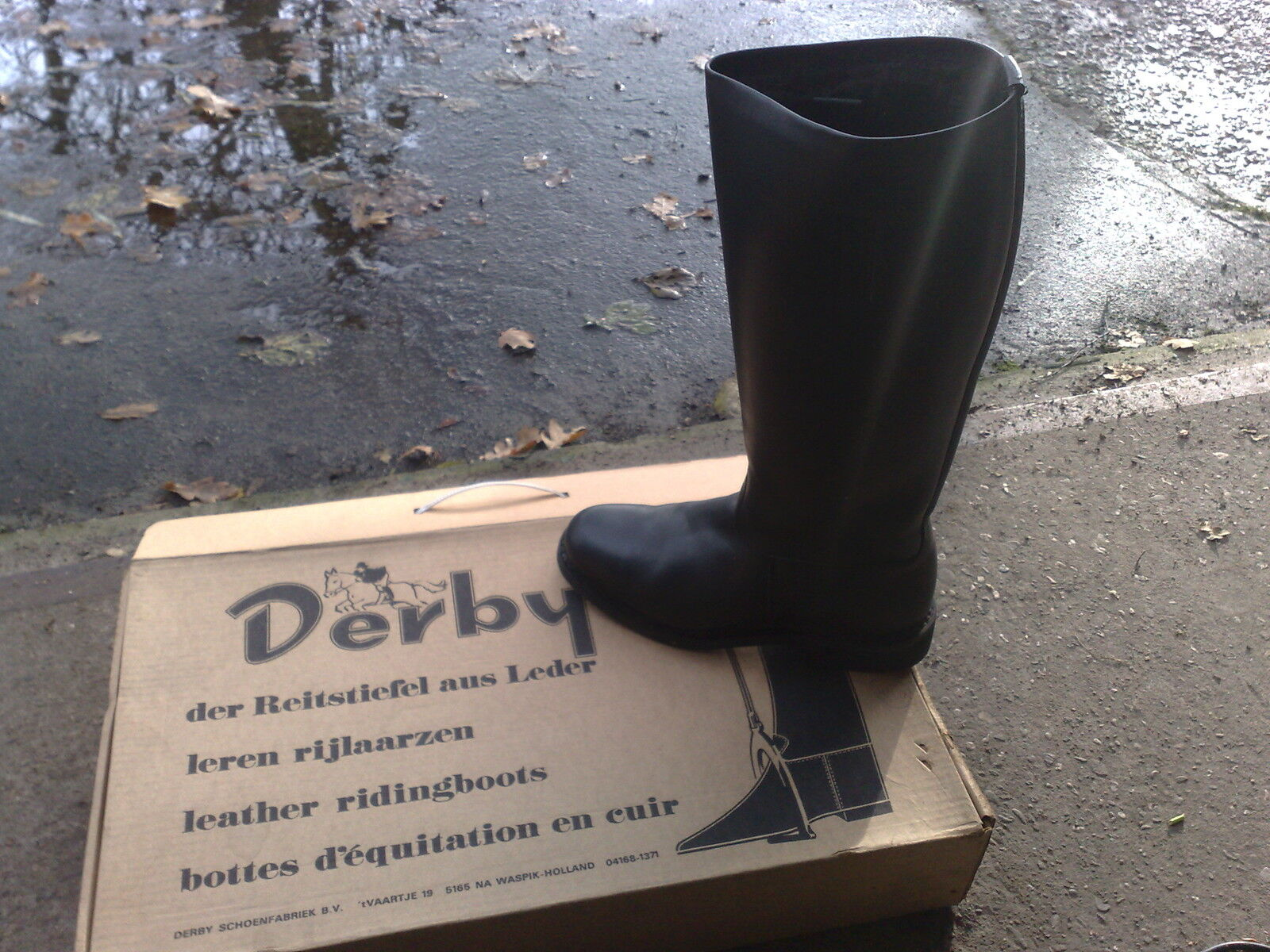 Derby  Riding bottes Genuine Leather with Teddy Colourful lining,,, Taille 41 NEW
