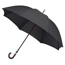 KS Brands UU0101 Quality Pongee Men/'s Walking Umbrella With Wooden Crook Handle