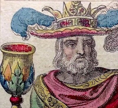 Minor Arcana 1835 Italy Authentic Neo-Classical Tarot Playing Cards Single+COA