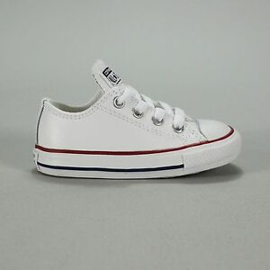 b6b169e52a71b0 Image is loading Converse-Toddlers-Infants-Trainer-Leather-White-Size-2-