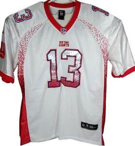 new concept 16417 68ad0 Details about NFL New York Giants Odell Beckham Jr 13 Red White 56 XXXL  Football Jersey Shirt
