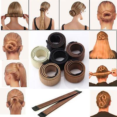 Women Hair Styling Donut Former Foam French Twist Magic Bun Maker DIY Tool GA778