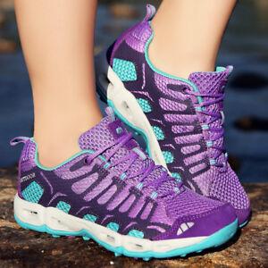eb9e572d350909 Mesh Women's Water Shoes Quick Dry Aqua Shoes Lace up Sneakers ...