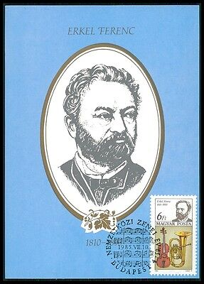 Stamps Loyal Ungarn Mk Musik Komponisten Erkel Tuba Violine Carte Maximum Card Mc Cm Bm36 Good Taste