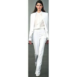 77937cff9d65 New White Women Business Evening Pant Suits Slim Fit Female Trouser ...