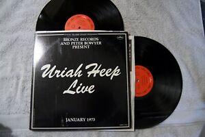 Uriah Heep Live January 1973 Hard Rock W Book 2 Records Vinyls Lp Album Ebay