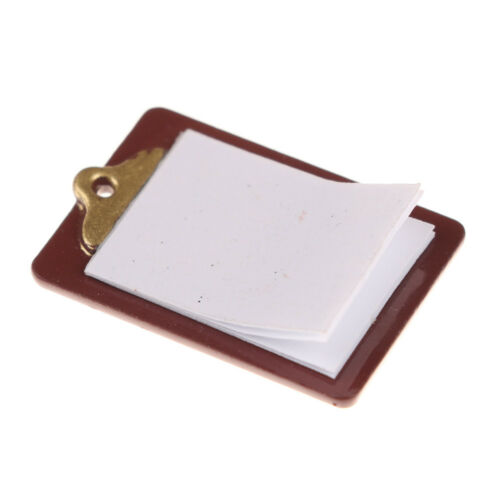 Mini Dollhouse Miniature Accessories Alloy Clipboard with Real Paper AttachBILU