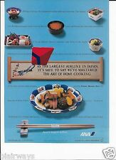 ANA ALL NIPPON AIRWAYS LARGEST AIRLINE IN JAPAN MASTERED HOME COOKING 1999 AD