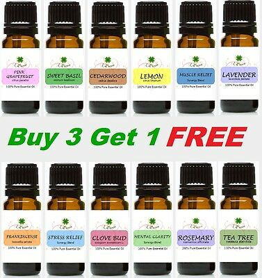 10 ml Essential Oil 100% Pure Therapeutic Grade,  Aromatherapy, Buy 3 get 1 FREE