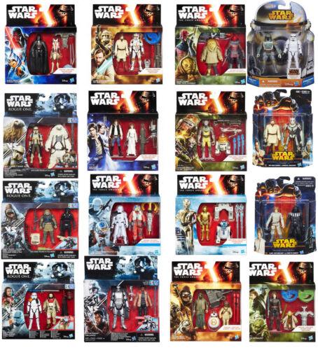 Pack 2 figuras Star Wars Hasbro BB-8 VAder R2-D2 Scarif Death Trooper Rogue 3,75