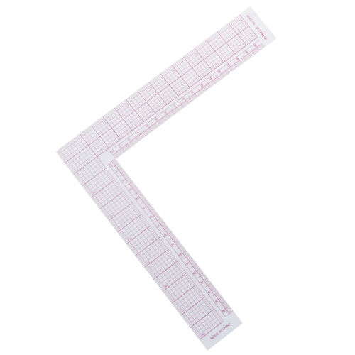 Tailor Drawing Craft Tool L-shape Ruler Sewing Square Curve Ruler Plastic Gauge.