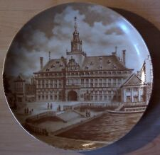 Andenkenporzellan Sammelteller Emden Rathaus Kaiser  Ostfriesland  braun