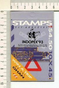 41265) Australia 1992 MNH QEII 45c (x10) Trains Booklet Ovptd Indopex