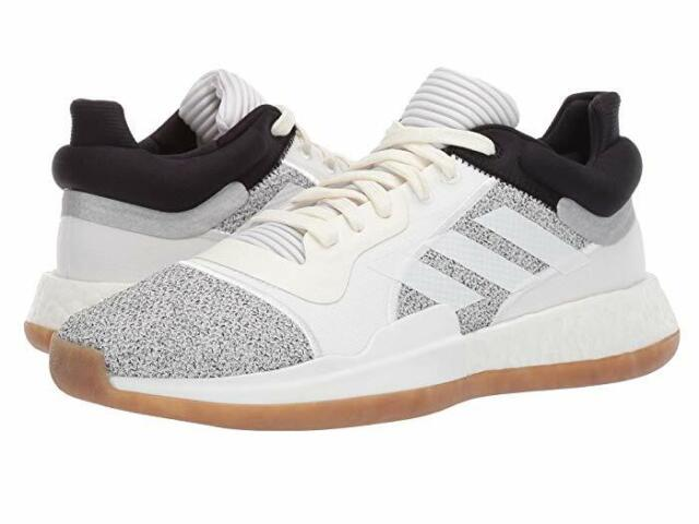 the best attitude b4d4c d3389 ADIDAS Men's Marquee Boost Basketball Shoes Low Top Off White/Black sz 8~14