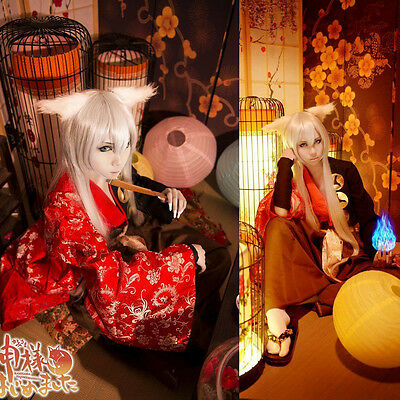 Kamisama Kiss Love Tomoe Kimono Yukata Cosplay Costume Ear Full Set
