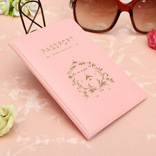 Pink PVC Travel Utility Passport ID Card Cover Holder Case Protector Skin