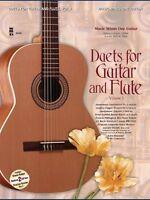 Guitar & Flute Duets Vol. I Sheet Music 2-cd Set Music Minus One Book 000400063